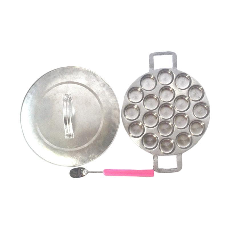Rosita Cetakan Kue Cubit Bulat Polos with Tutup [19 Holes]