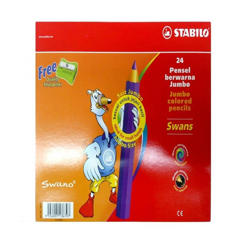 STABILO Swans Jumbo Color Pencils Set Pensil Warna [24 Pcs]