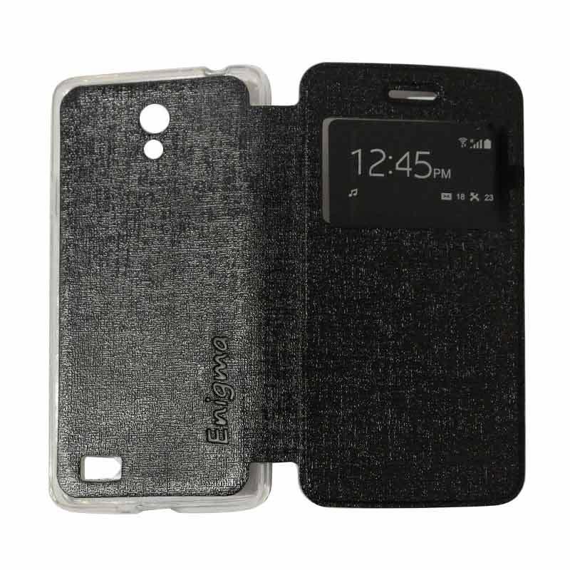 Ume Flipshell Flipcase Flip Cover Casing for Oppo Joy 3 / Joy3 / A11W / A11 - Black