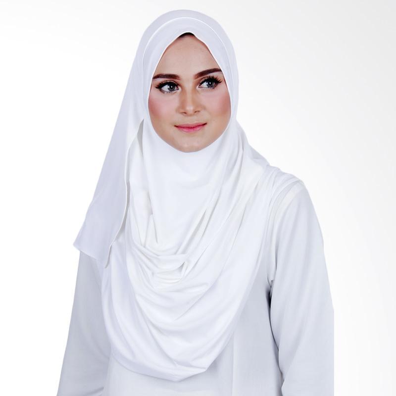 Cantik Kerudung Sheefa 2 Face Lycra Hijab - Broken White