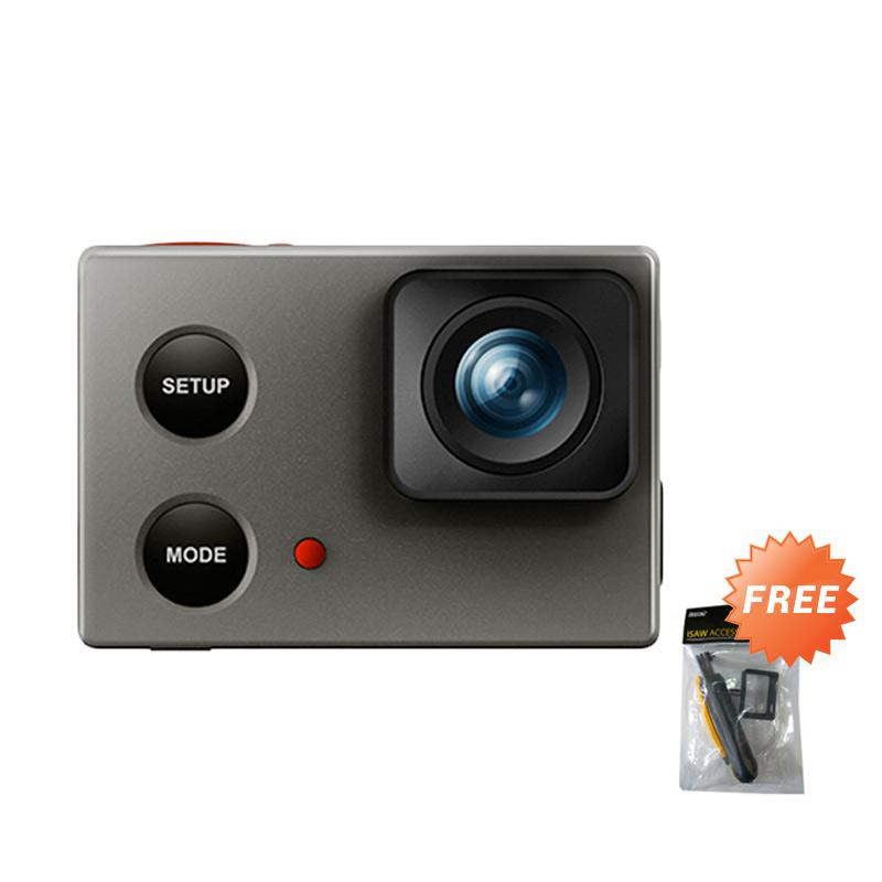 Isaw Wing Lite Edition Action Cam - Silver [Wi-Fi/ Full HD/ 12 MP] + Free Isaw Accesory