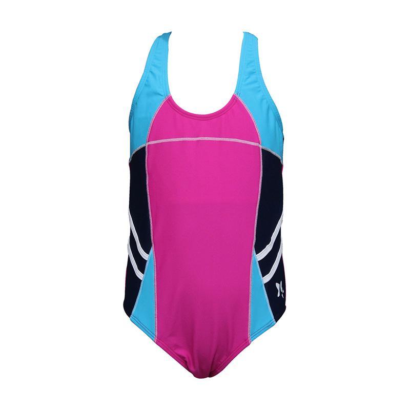 Lasona SW-H3009-L4 Baju Renang Anak Perempuan - Magenta Biru Dongker