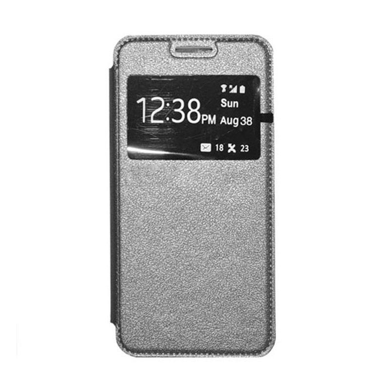OEM Leather Book Cover Casing for Samsung Galaxy Note Edge - Grey
