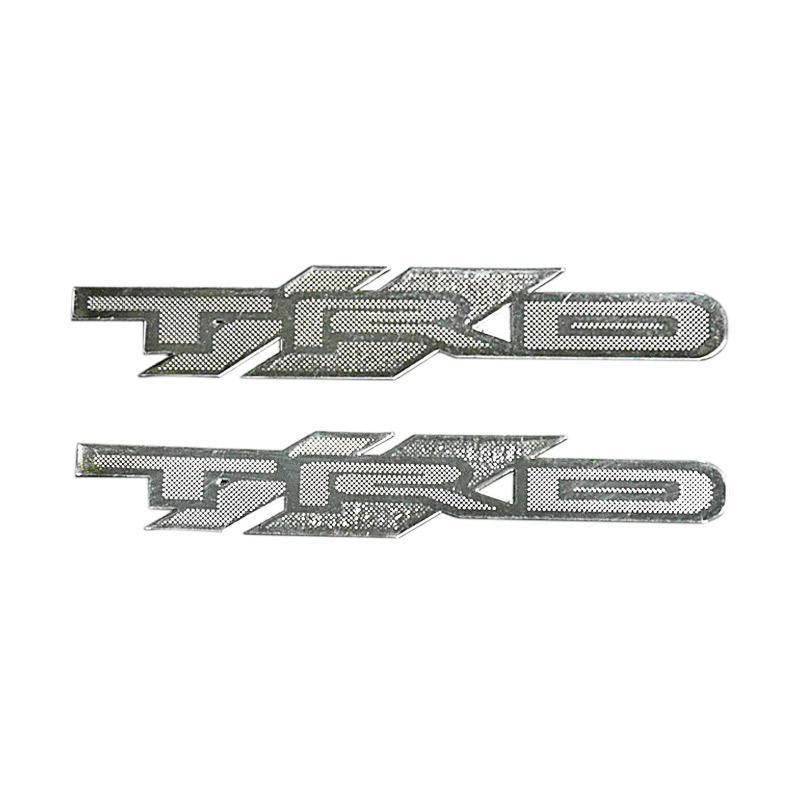 SIV - STICKER - STIKER TULISAN TRD - SMALL - (2pc-Silver) - STI S-2 TRD