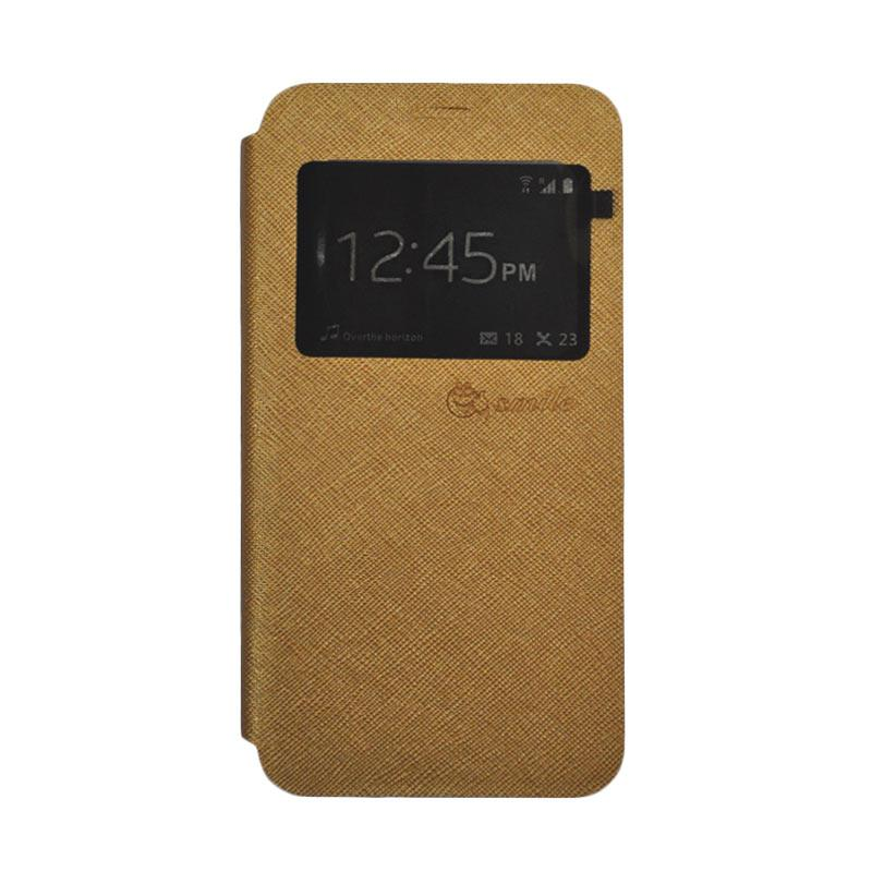 SMILE Standing Cover Casing for Samsung Galaxy J5 Prime - Gold