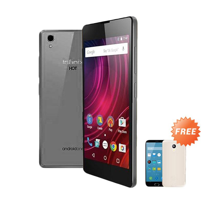 Ultrathin Casing for Infinix Hot 2 - Black Clear + Free Ultra Thin