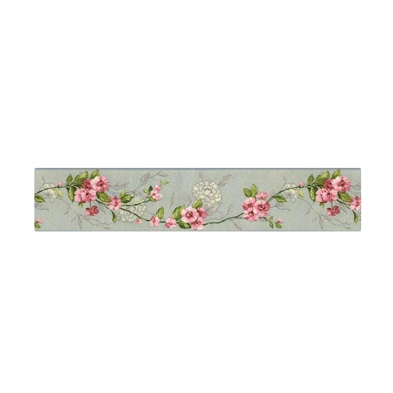 Hyundae Fixpix HT 20981 Flower Border Sticker [14 cm x 5 m]