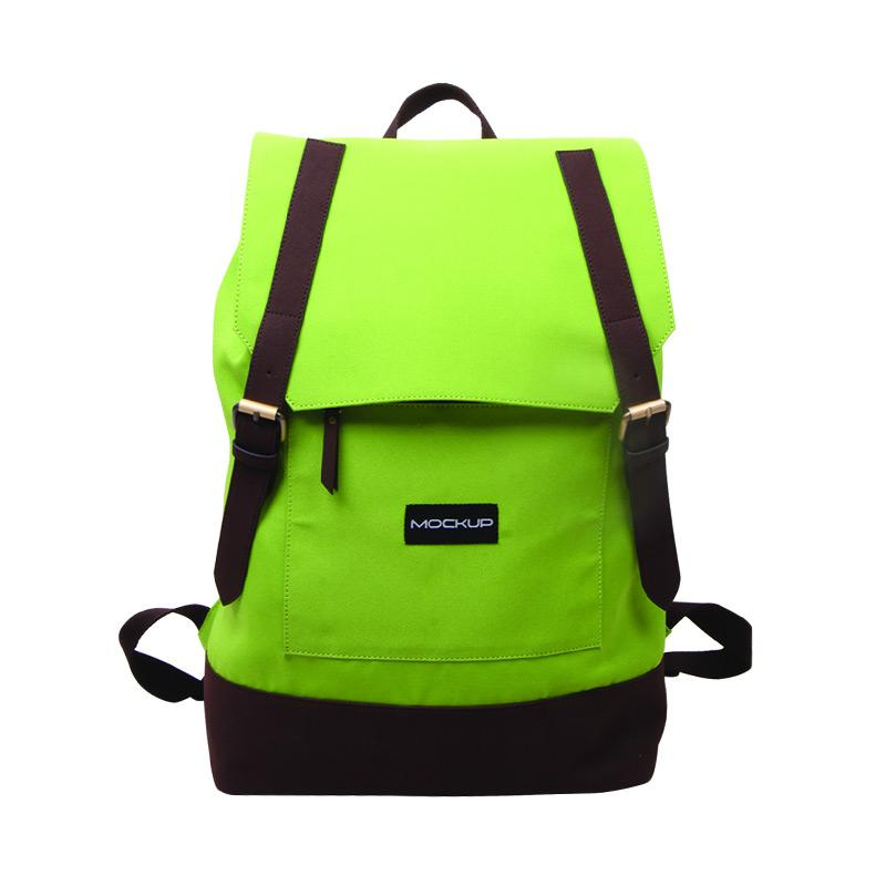 Daily Backpack Mockup BBP.57 Tas Unisex - Green and Chocoo Brown