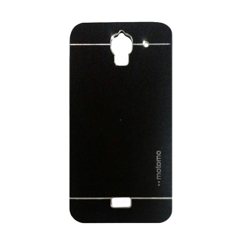 Motomo Metal Hardcase Backcase Casing for Huawei Y3/Y3C/Y360 - Black