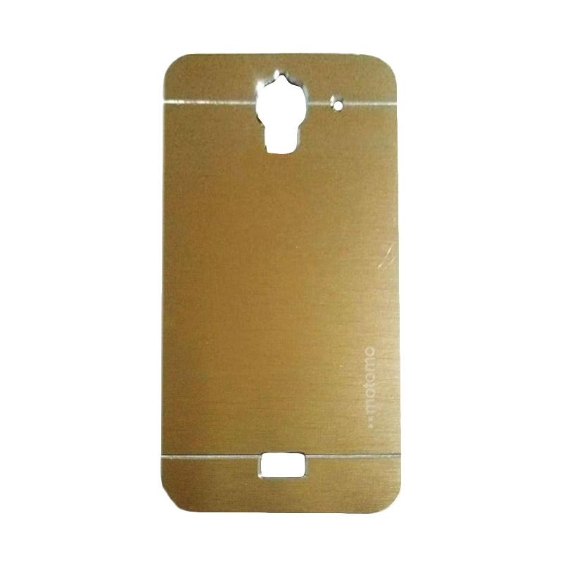 Motomo Metal Hardcase Backcase Casing for Huawei Y3/Y3C/Y360 - Gold