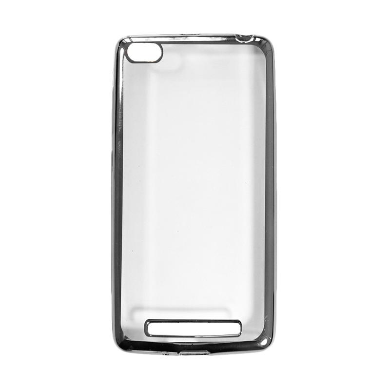 OEM Shining Chrome Softcase Casing for Xiaomi Mi5s or Mi 5S 4G - Black