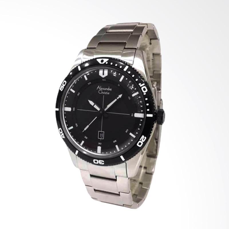 Alexandre Christie Jam Tangan Pria - Silver Black 6459