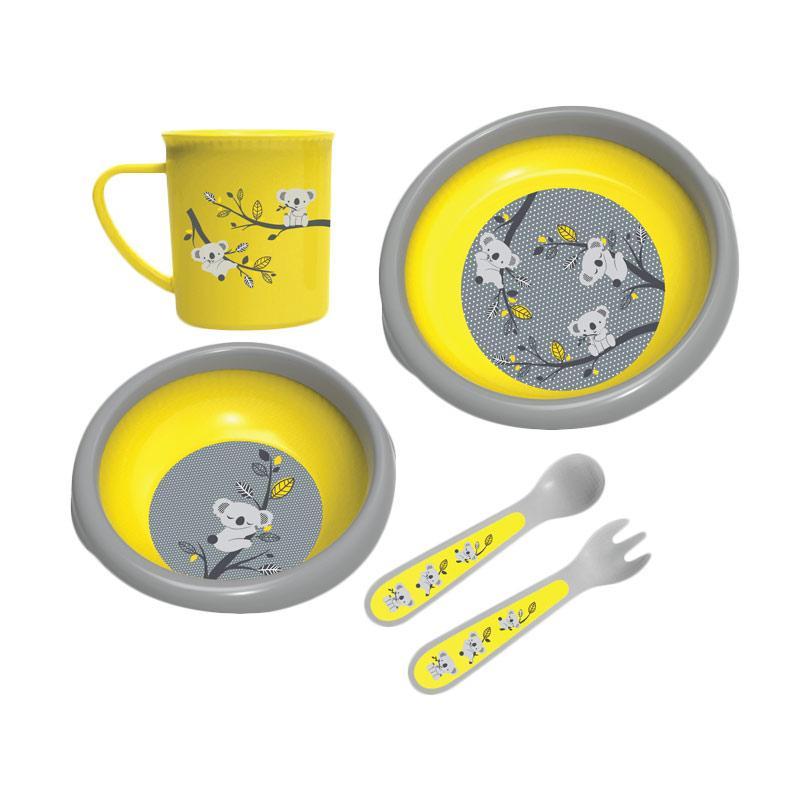 BabySafe FS500 Mealtime Collection Set Peralatan Makan - Yellow