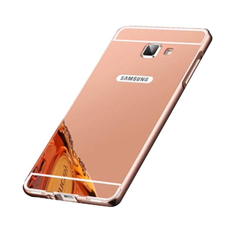 Bumper Mirror Sliding Casing for Samsung Galaxy A510 - Rose Gold