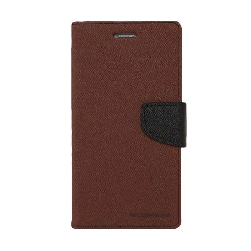 Mercury Fancy Diary Casing for Samsung Galaxy Core I8262 - Coklat Hitam