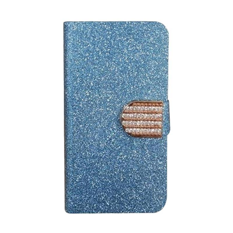 OEM Diamond Flip Cover Casing for Alcatel Pixi 4 Plus Power - Biru
