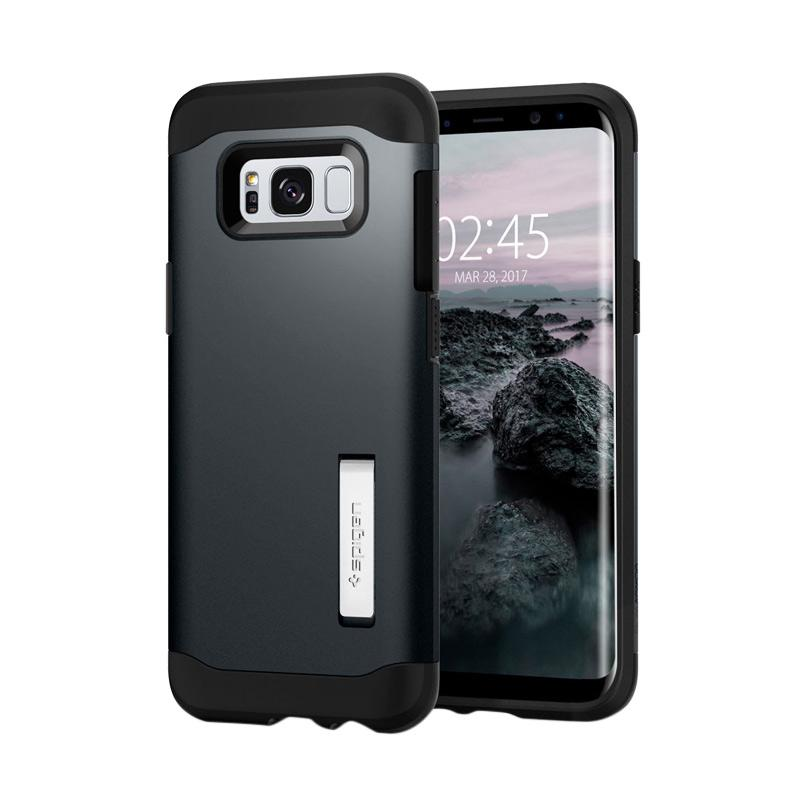 Spigen Slim Armor Casing for Samsung Galaxy S8 - Metal Slate