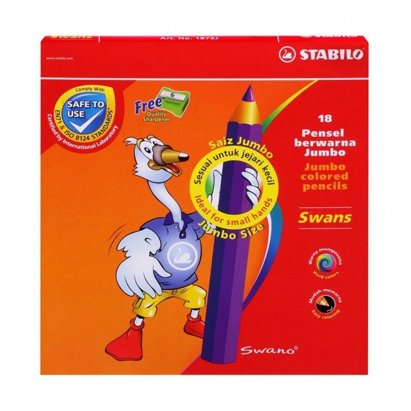 STABILO Swans Jumbo Color Pencils Set Pensil Warna [18 pcs]