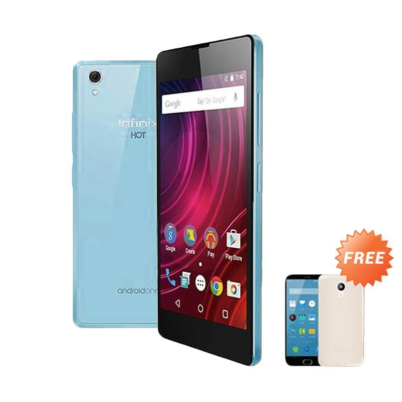 Ultrathin Casing for Infinix Hot 2 - Blue Clear + Free Ultra thin