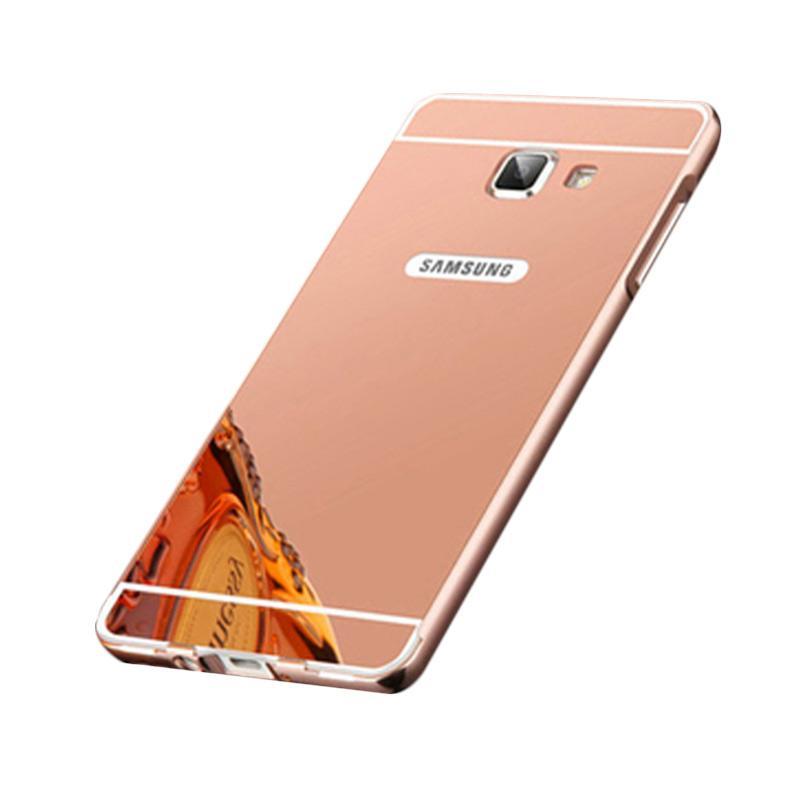 Bumper Case Mirror Sliding Casing for Samsung Galaxy A710 - Rose Gold