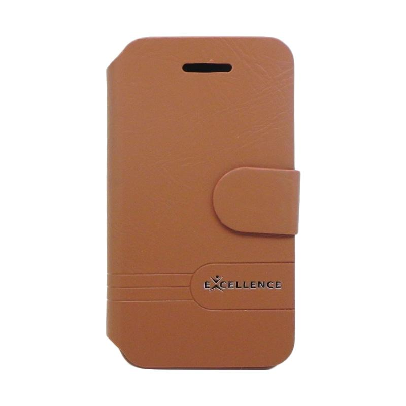 Excellence Dragonite Flip Cover Casing for iPhone 5 - Brown