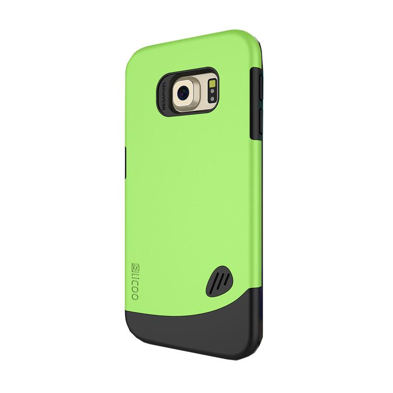 KIM Slicoo Frosted Back Side Hardcase Casing for Samsung Galaxy S6 Flat - Hijau