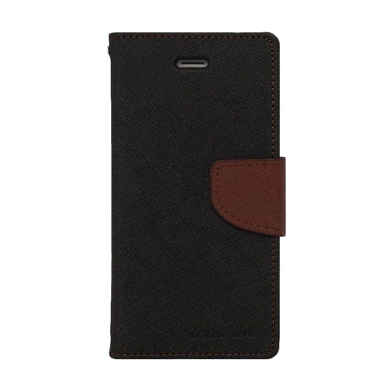 Jual Mercury Fancy Diary Casing for Samsung Galaxy Alpha G850 - Hitam Coklat Online - Harga