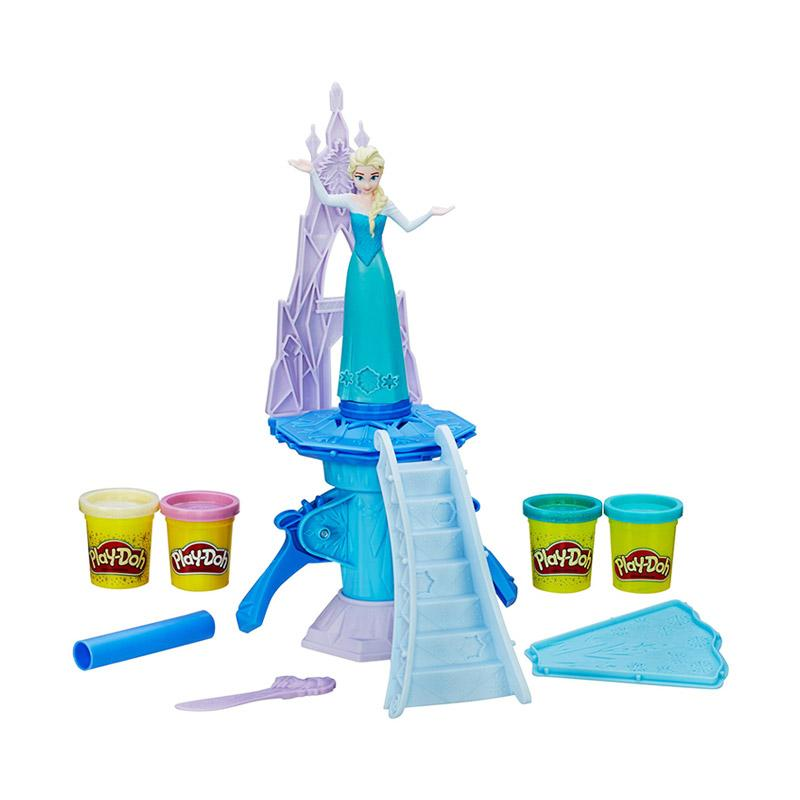 Play Doh B5530 Frozen Enchanted Ice Palace with Elsa Clay and Dough