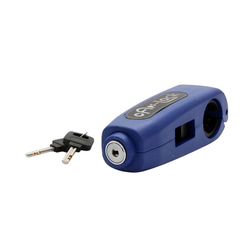 Raja Motor Caps Lock Kunci Pengaman Stang - Biru [KAS9002-Biru]