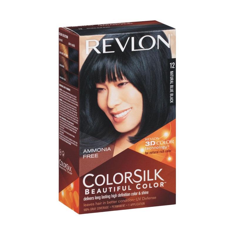 Revlon Colorsilk Beautiful 12 Cat Rambut - Natural Blue Black