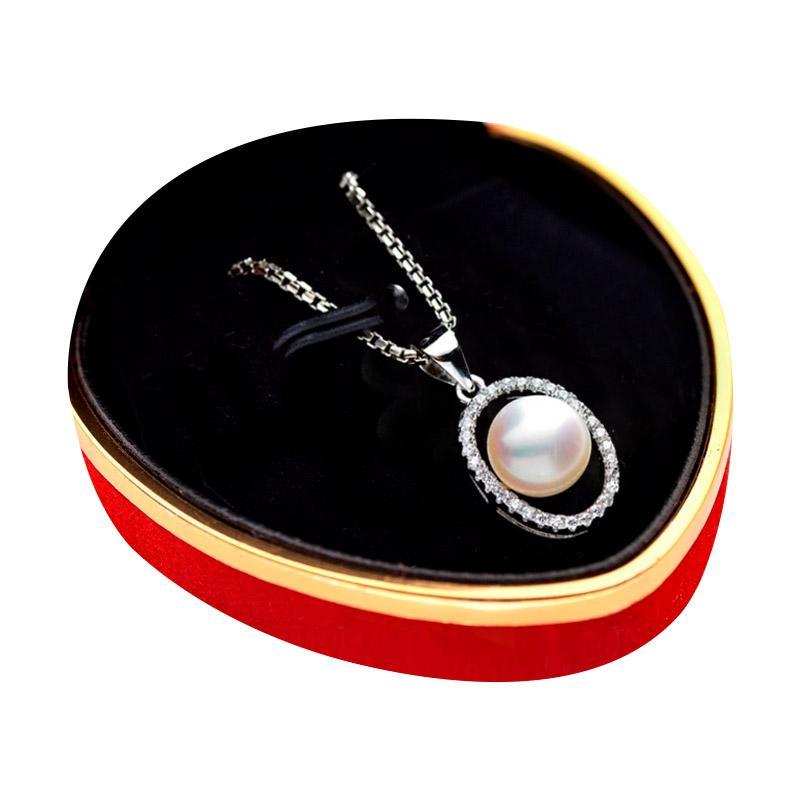 Royale Jewel WGP 068A Kalung Perak Emas Putih dan Mutiara Asli