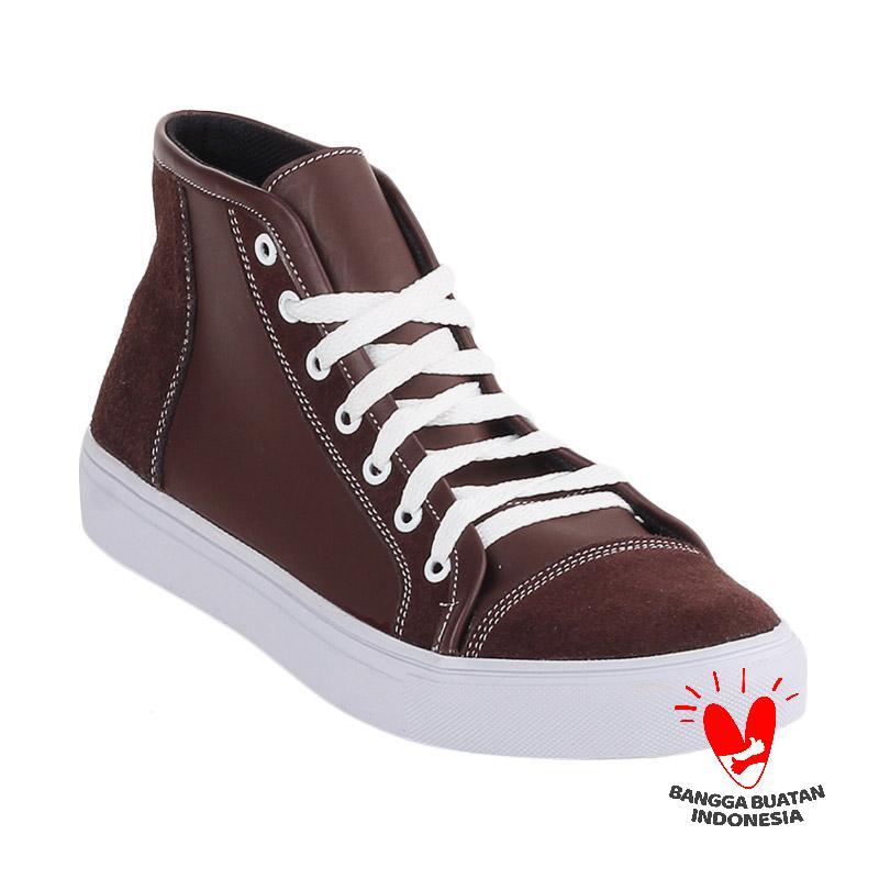 Blackkelly Kulit Bill Medley LFM 599 Sepatu Sneakers Pria - Coklat
