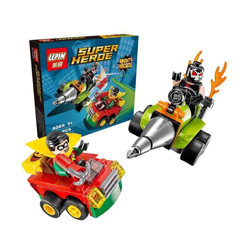 Lepin Super Heroe Mighty Micros Robin Mainan Blok & Puzzle
