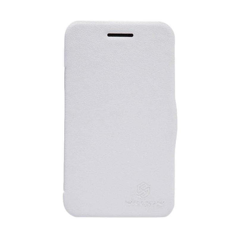 Nillkin V-series Flip Cover Casing for BlackBerry Q5 - White