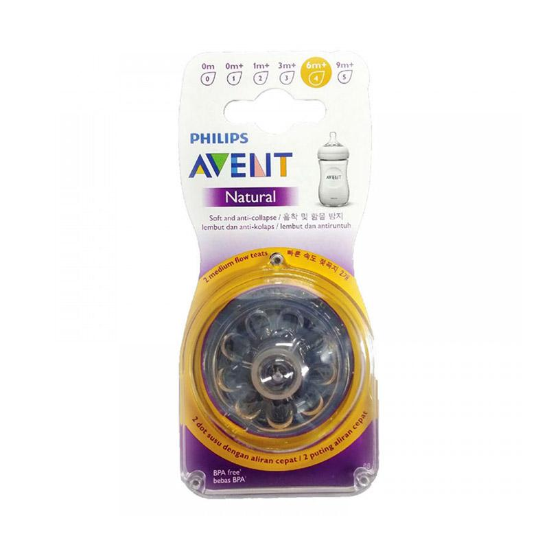 Philips Avent NEW Natural Nipple Fast Flow [6m+/2 Pack]