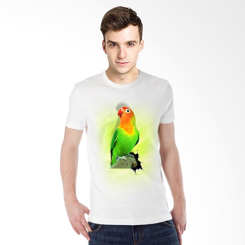 harga T-Shirt Glory 3D Burung Love Bird Kaos Pria - Putih Blibli.com