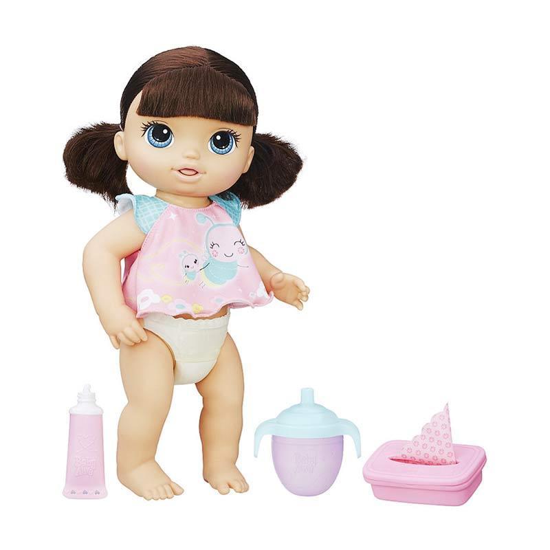 Jual Baby Alive B6052 Twinkles n Tinkles Brunette Doll Boneka Bayi Online -  Harga   Kualitas 63224cb324
