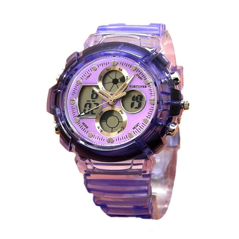 Fortuner FR J-540AD Rubber Strap Jam Tangan Wanita - Purple
