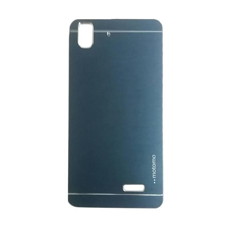 Motomo Metal Hardcase Casing for Oppo R7 or R7 Lite - Dark Blue