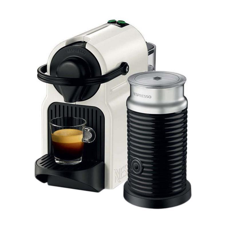 Nespresso Inissia Mesin Kopi with Aeroccino 3 - Putih