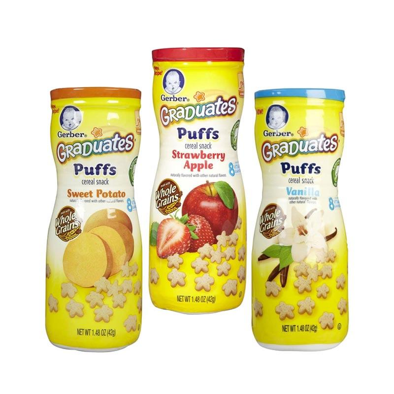 Gerber Puff Combo C [Sweet Potato, Strawberry Apple, Vanilla]