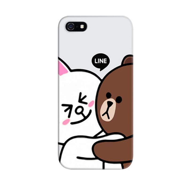 Indocustomcase Brown Cony Custom Hardcase Casing for Apple iPhone 5/5S/SE