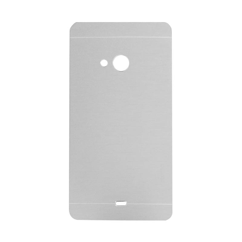 Motomo Metal Hardcase Casing for Microsoft Lumia 540 - Silver