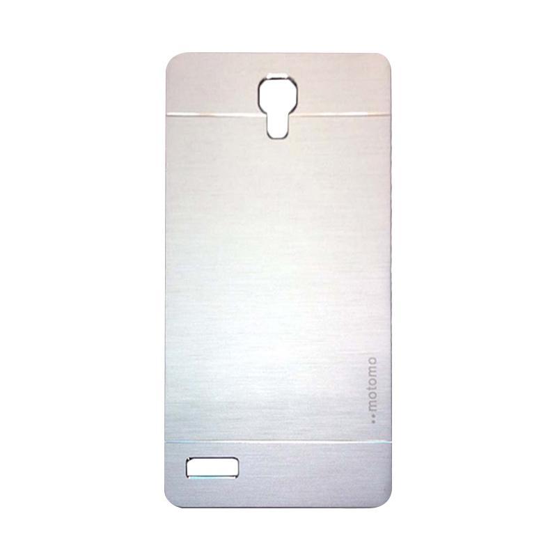 Motomo Metal Hardcase Casing for Xiaomi Redmi Note - Silver