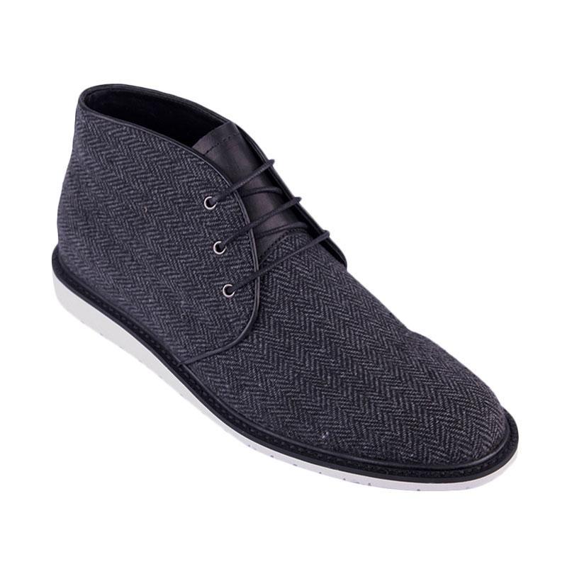 Ftale Footwear Kemp Mens Shoes Sepatu Pria - Herringbone Black