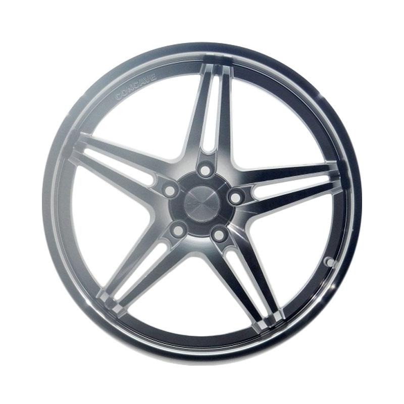 harga HSR Wheel AC5 9981F Velg Mobil - Silver Machine Face [Ring 19x85 5x114,3 ET42] Blibli.com