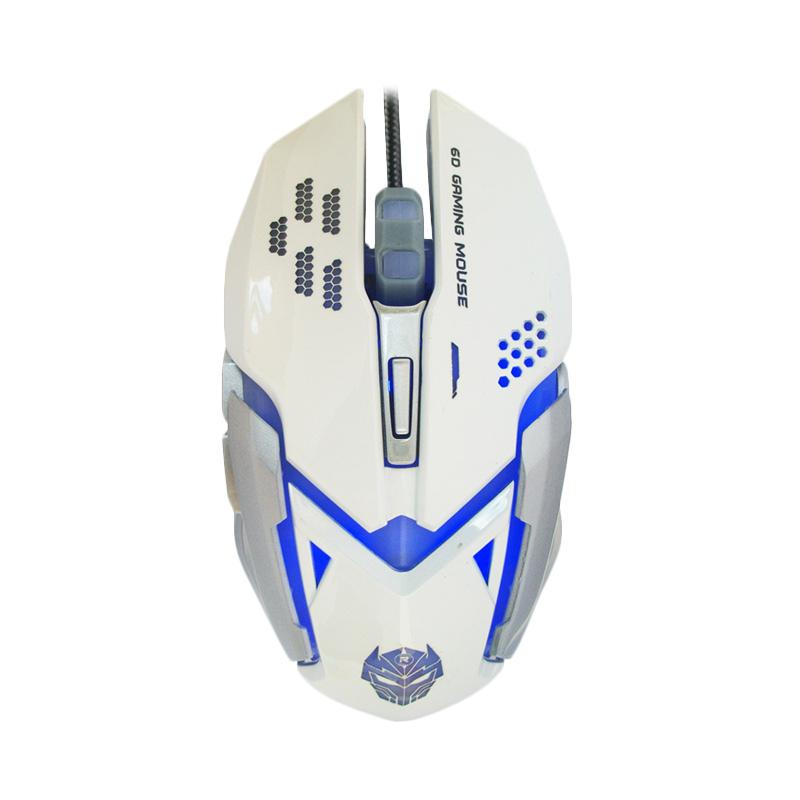 Rexus Gaming Mouse USB XiERRA RXM-X6 6D + 4 Colors LED - Putih