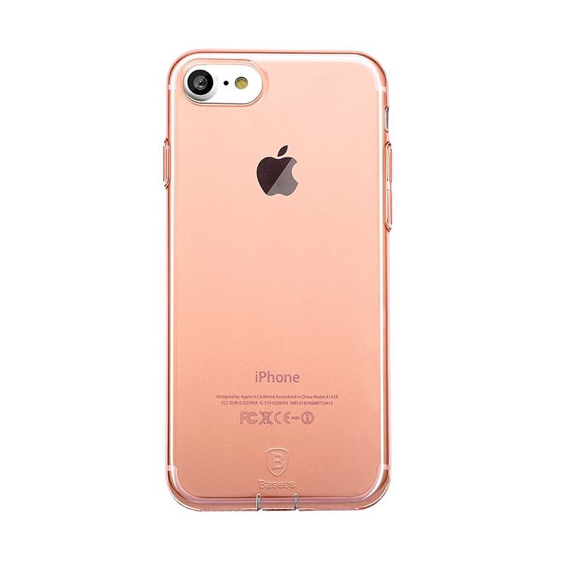 harga Baseus Simple TPU Casing for iPhone 7 4.7 Inch with Pluggy ? Rose Gold Blibli.com