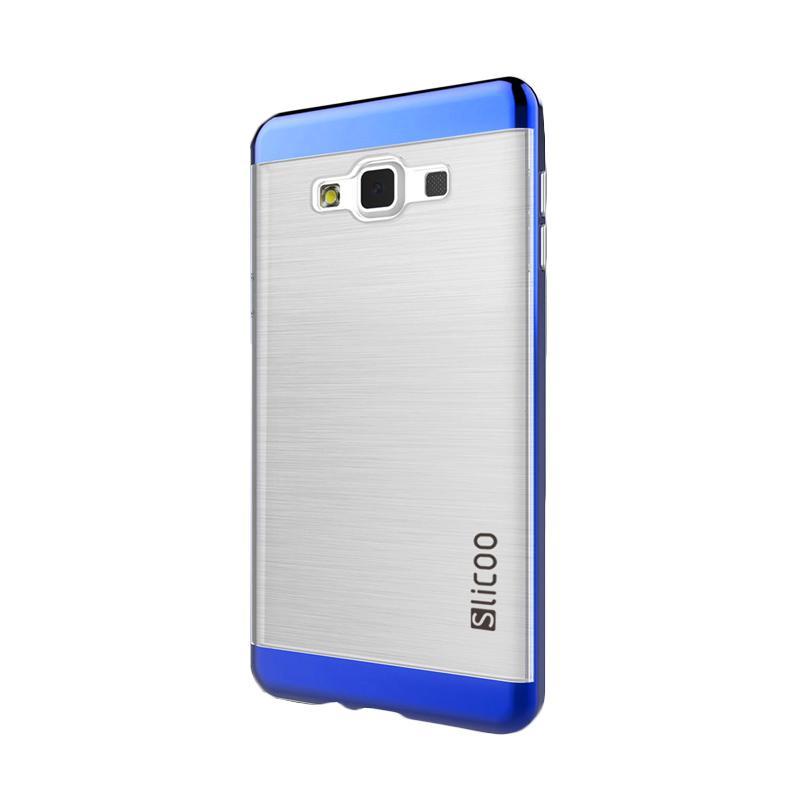 Slicoo Clear Side Cover Hardcase Casing for Samsung Galaxy A5 - Biru