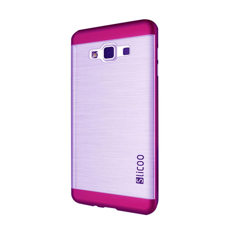 Slicoo Clear Side Cover Hardcase Casing for Samsung Galaxy A5 - Pink